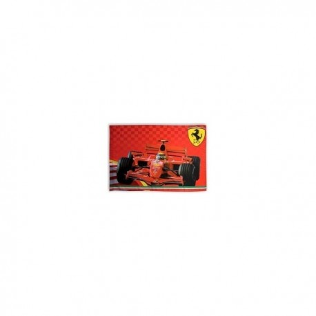 DRAPEAU SUPPORTER FERRARI FRONTAL CAR OFFICIEL 1 M x 1M40