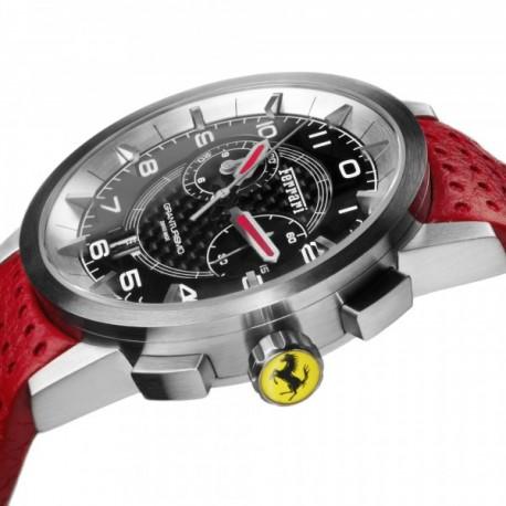 Montre Ferrari Granturismo Chrono avec bracelet en cuir rouge