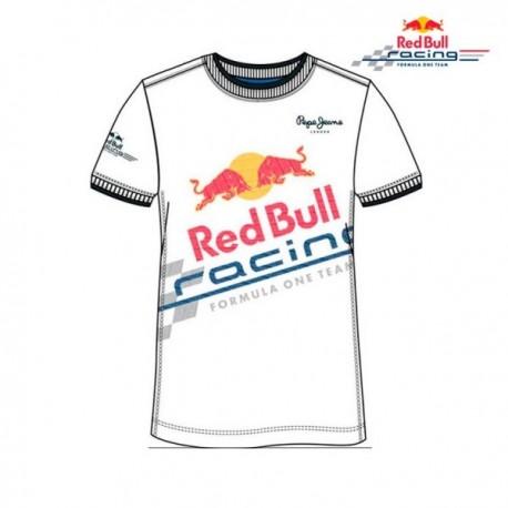 red bull T-shirt blanc fireball