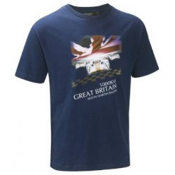 T SHIRT ASTON MARTIN GREAT BRITAIN BLEU